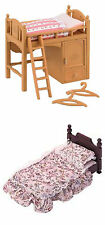 Two Sylvanian Families Bed Sets - Suite Bed and Single Bunk Bed