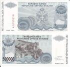 CROACIA 500.000 DINARA 1994 P R32 LOTE DE 5 BILLETES