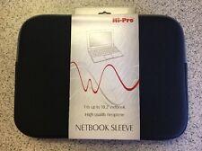 "NEW Hi Pro Black Netbook / Tablet Neoprene Sleeve 10.2"" Zip Closure"