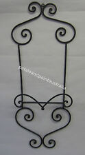New Rustic Country French Provincial Black Metal Single Plate Holder Wall Rack