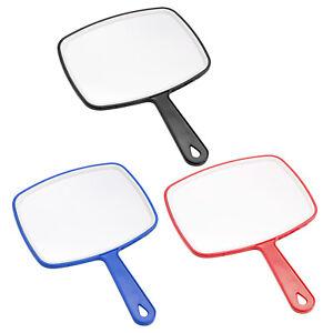Espejo de mano cuadrado Herramienta de espejo de paleta de mano con asa de