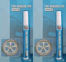 2x blanc pneu marqueur vélomoteur-scooter-moto-voiture pneus stylet stylo pneu/marqueurs