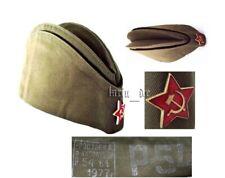 UdSSR CCCP 1977 Rote Armee Uniform - Mütze Käppi Schiffchen (Gr. 54) + Stern