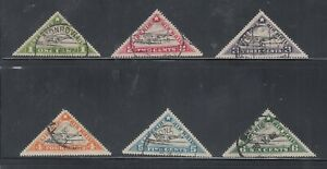 Liberia # C3A-F POSTALLY USED (NOT CTO) Complete 1936 Set Triangle Airplane