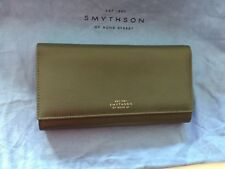 SMYTHSON of BOND Wallet, Calf Leather, Navy And Grey , Brand New!