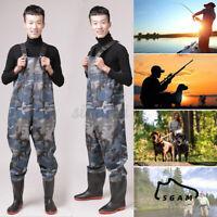 Waterproof Chest Waders Fishing Hunting Boot Foot Wader Wading Pants 7-13 size