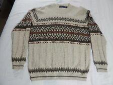 "Men's ""BILL BLASS"" Multi Color Sweater,Crewneck,XLarge Excellent Condition,NICE!"