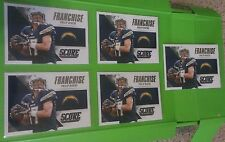 Lot of 5 Philip Rivers 2015 Score Football Franchise Inserts #11.  SD Chargers.