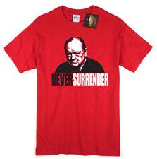 Never Surender Churchill T-shirt - Darkest Hour Inspired Oscars - War Tee NEW