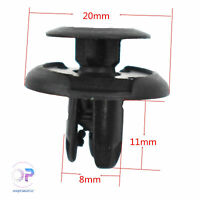 New 100Pcs 8mm Hole Nylon Rivet Fastener Bumper Push Type Clips For Honda Accord