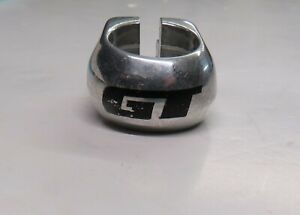 GT 1 inch NOS BMX Seat Post Frame Clamp Silver