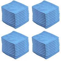 40 x BLUE CAR CLEANING DETAILING MICROFIBER SOFT POLISH CLOTHS TOWELS LINT FREE