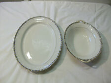 Vintage Matching Noritake Nippon Large Serving Platter & Vegetable Serving Bowl