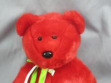 BIG TY 1999 RED TEDDY BEAR OSITO MEXICO MEXICAN FLAG PLUSH STUFFED ANIMAL MWOT