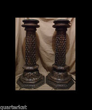ANTIQUES PLANT STANDS FURNITURE PEDESTALS WOOD WOODEN CARVINGS CARVED INCREDIBLE