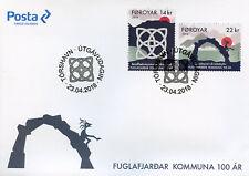 Faroes Faroe Islands 2018 FDC Fuglafjordur Municipality 100 Yrs 2v Cover Stamps
