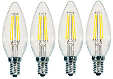 4-pack , 2 boxes of 2 Sunbeam 40W chandelier LED Dimmable Candelabra Light Bulbs