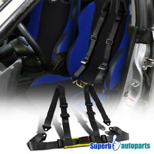 Racing Seat Belts 4 Point 4PT Safety Harness Black