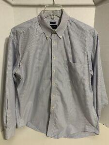 Joseph & Feiss No Iron 100% Cotton Long Sleeve Oxford Dress Shirt Size XL