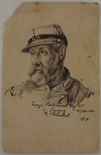 GERMANY WWI FIELDPOST FELD ART BTTR. 899 GENERAL PAINTING JUDAICA? POSTCARD 1916