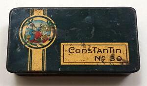 CONSTANTIN Cigaretten No. 30 Gold, Blechdose antik, für 10 Zigaretten, um 1920