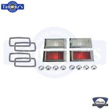 68 Camaro & Chevelle Nova Base Front Rear Side Marker Lamp Lens Bezel Gasket Set