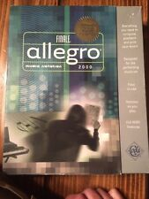 Finale Allegro Music Notation 2000 Software Choice Of Midi Users