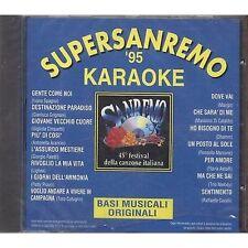 Super Sanremo '95 Karaoke - SPAGNA GRIGNANI CINQUETTI CUTUGNO - CD 1995 SEALED