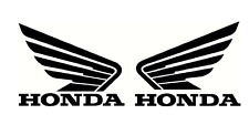 Honda Wings X 2  Pair) Motorcycle Tank Panels Helmet Track Bike Car Van STICKERS