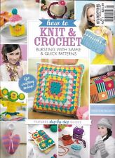 Knit And Crochet Magazine Granny Squares Cushion Coin Purse Cupcake Phone Sock