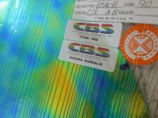 """Dichroic Glass:CBS 90COE Cyan/Red Aurora Borealis on Thin Accordion Black- 3"""" Sq"""