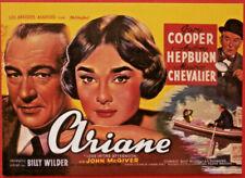 Movie Posters #2 - Card #22 - Audrey Hepburn, Gary Cooper - Ariane (1957)