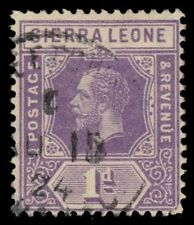 """SIERRA LEONE 123a (SG132) - King George V """"Keyplate"""" Die I (pa30141)"""