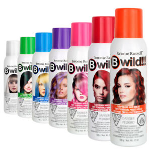 JEROME RUSSELL B WILD! TEMPORARY SPRAY ON HAIR COLOR DYE TINT WASH OUT 3.5OZ