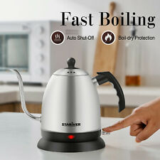 Stariver Electric Kettle Gooseneck Water Boiler, 1L Pour Over Coffee & Tea Pot
