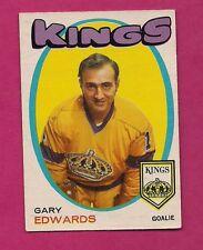 1971-72 OPC # 155 KINGS GARY EDWARDS  GOALIE  ROOKIE GOOD CARD (INV#5319)