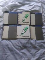 Lot Of 1988 Vintage Claris User Manuals MacDraw, MacProject II, AppleWorks