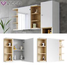 VICCO Spiegelschrank AQUIS 80 x 64 Weiß Eiche Spiegel Badspiegel Bad Wandspiegel