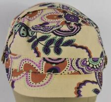White Flower Design Butterfly's Girls Fashion Combat Cadet Hat Cap Stretchable