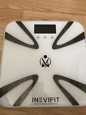 INEVIFIT Body-Analyzer Scale, white model I-BA003W. Used