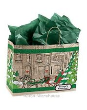 "Paper Shopping Bags 100 Christmas Gift Retail Merchandise Handles 16"" x 6"" x 12"""