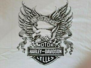 Biker  T-Shirt (Harley Davidson), weiß, Gr.XXL