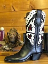 Tall! PAUL BOND CUSTOM BOOTS Size 9 B MEN WOMEN Custom Cowboy Boots TALL HEELS