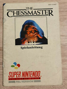 The Chessmaster super nintendo Nes Snes ( Manual Only)