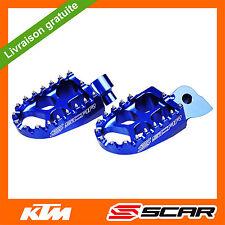 REPOSE CALE PIEDS EVO KTM 65 125 150 250 350 450 SX SXF EXC EXCF 98-15 BLEU SCAR