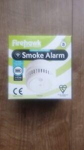 Firehawk smoke alarm FHB10W 10 year long life with wireless interlink