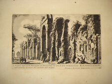 Piranesi stampa antica Archi Neroniani Roma old print 1756 kupferstich Celio