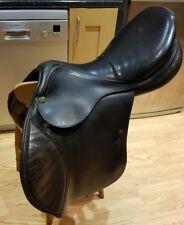 "Prestige Appaloosa/Equipe Black Jumping Saddle 17 1/2"" medium width 32"
