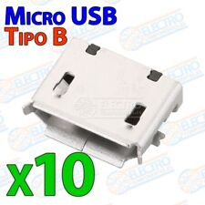Conector Micro USB Tipo B Hembra soldar SMD standard - Lote 10 unidades - Arduin