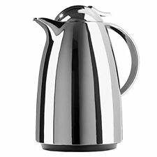 Emsa 624151600 Auberge Quick-Tip vacuum flask, 1.5 litres, chrome